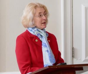 Ann Mallek speaks at the county office building